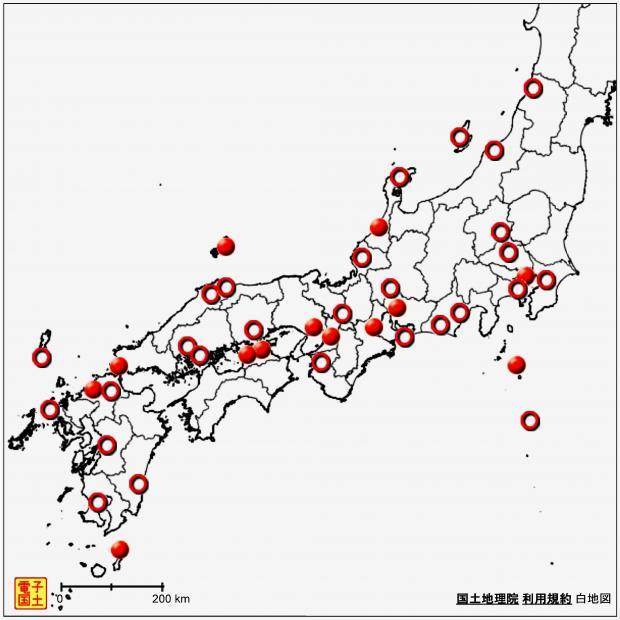 2013年8月10日 スーパー熱帯夜の分布