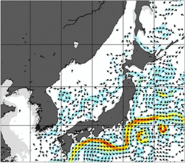 2013年9月16日海流図の抜粋拡大