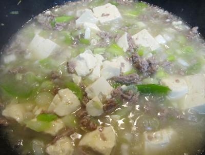 白マーボー豆腐