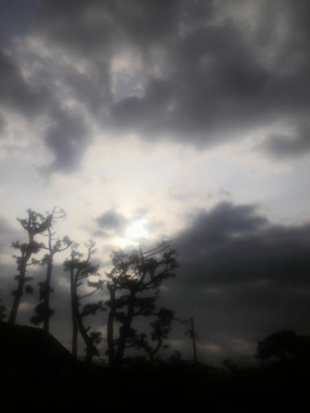 雨が降る前に・・・