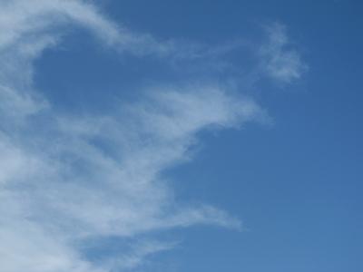 雲の横顔?