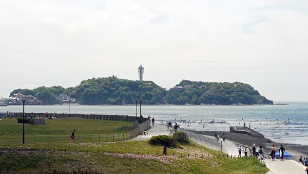 母の日の江ノ島と、鵠沼海岸