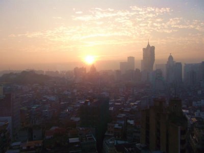 朝のマカオ3