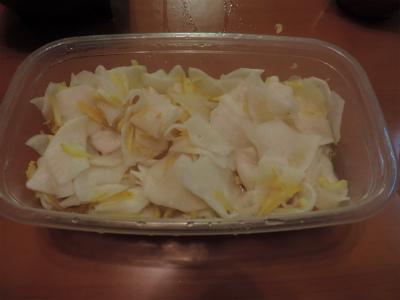 カブの酢の物(柚子風味)