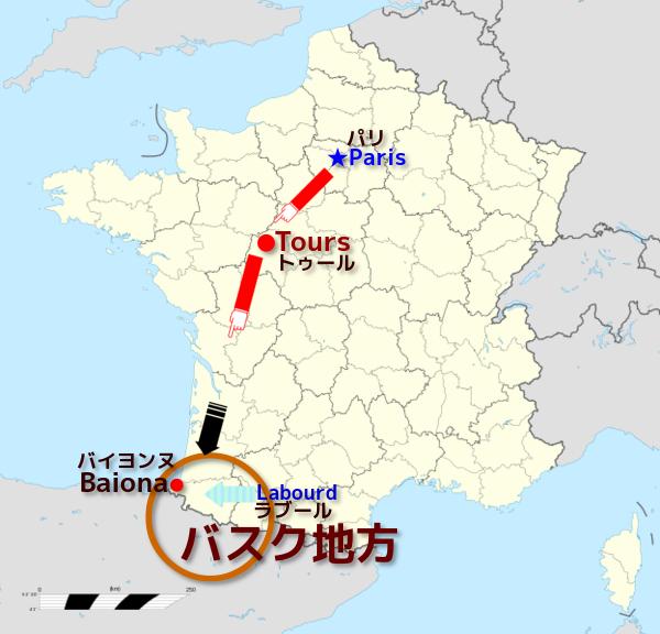 バスク地方へ地図 W600