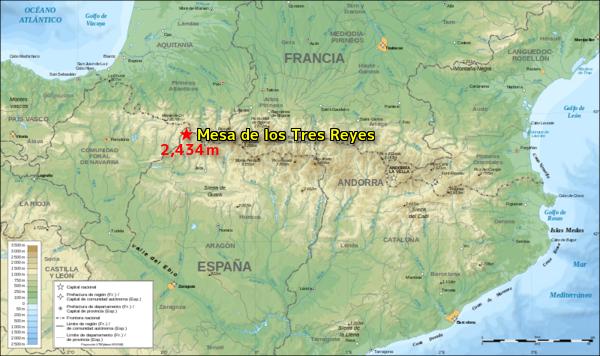 Mesa de los Tres Reyes 地図 W600