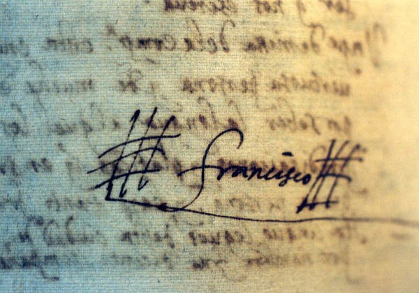 ザビエル直筆のサイン W600