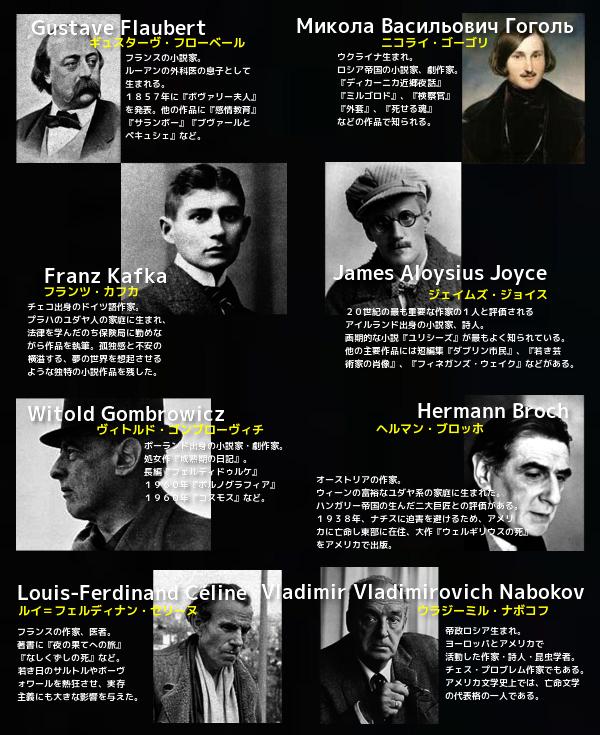 8人の作家たち