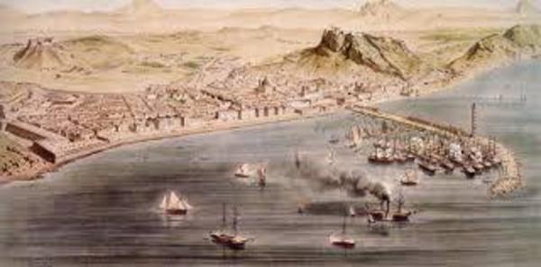 サンタ・バルバラ城と港 2 W600