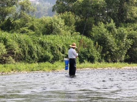 保津川の釣り人_H25.08.16撮影