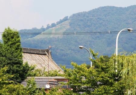 東山如意ケ嶽の大文字_H25.08.16撮影