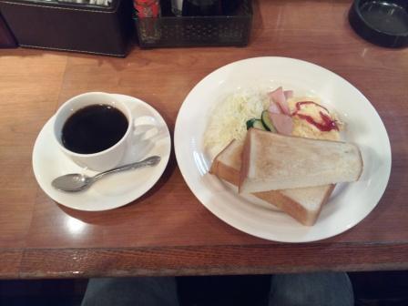 塩小路カフェのトーストモーニング_H25.10.12撮影