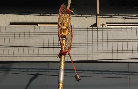 剣鉾の鈴と棹_H25.10.13撮影