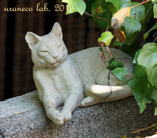 5月3日白い猫のオブジェ