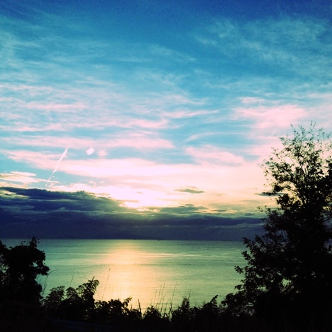絶景 明石海峡大橋 夕陽 画像