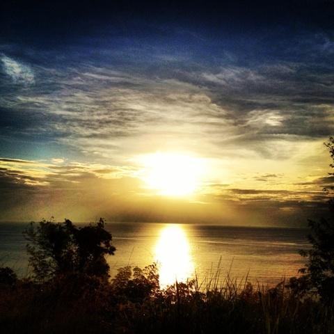 夕陽 太陽 空 画像