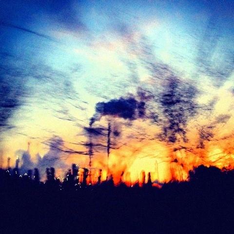 夕焼け 明石海峡大橋 写真 画像