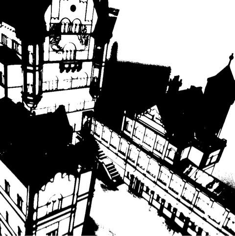 ミラン 旧市街 モノクロ 画像