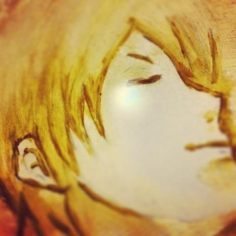 少年 油彩 涙 画像