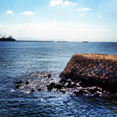 高砂臨海公園 波打ち際 海 画像