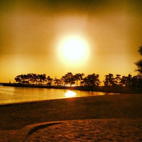 瀬戸内海 高砂 夕暮れ 画像