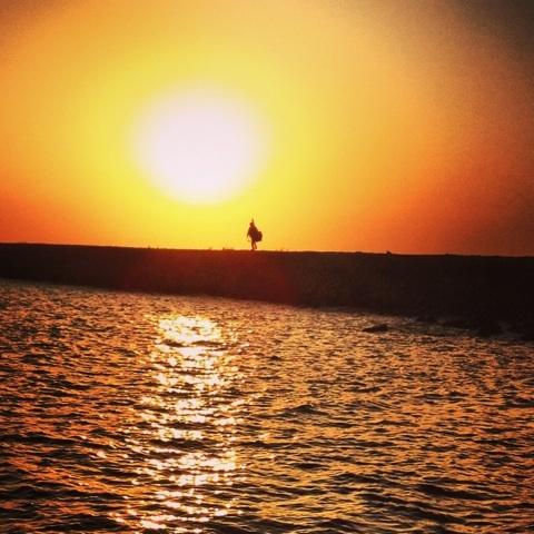 絶景 夕陽 岬 画像