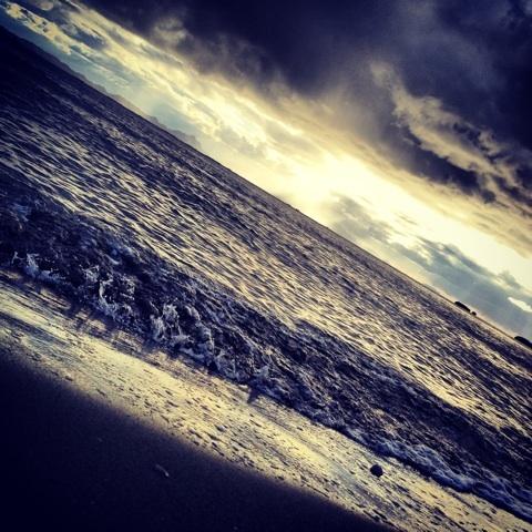水平線 瀬戸内海 冬景色 画像