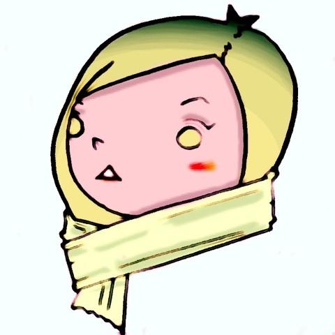 マフラー 冬 女の子 画像