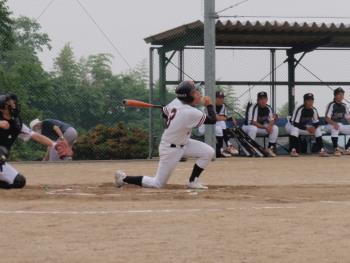P60802502番 右中間二塁打と送りバント
