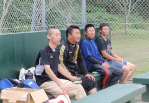 PA060051大応援団 たごさん、藤本さん、福山さん、濱監督