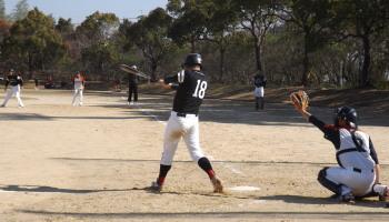 DSCF3835左越え2点三塁打を放った桂選手