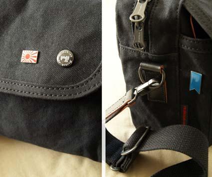 STITCH-ON(羽倉の縫製)帆布ショルダー黒 2