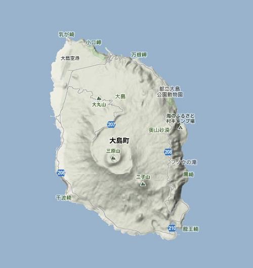 伊豆大島地形