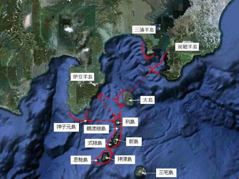 伊豆の海の道