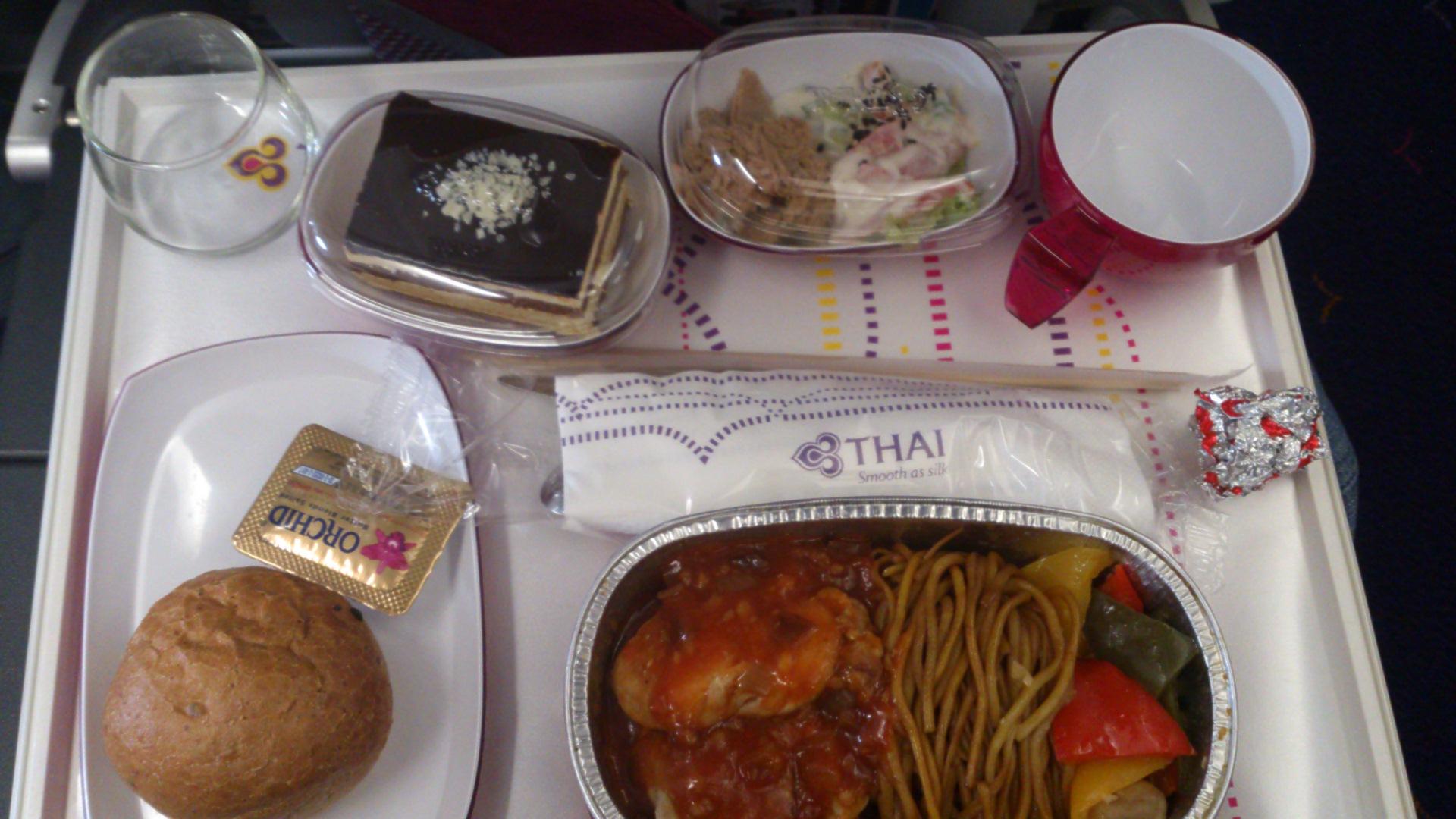 タイ航空機内食2013