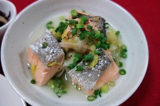 塩鮭と白菜の蒸し煮126