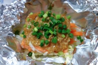 鮭のちゃんちゃんホイル焼き216