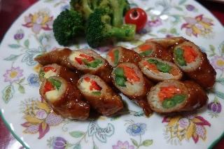 野菜の肉巻きケチャップ124