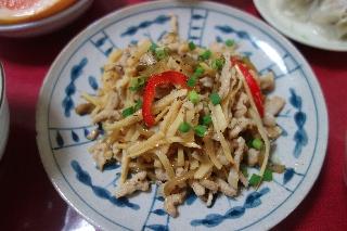 豚肉と筍のザーサイ炒め203