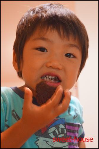 DSC01689 蒸しケーキ食べるhoga