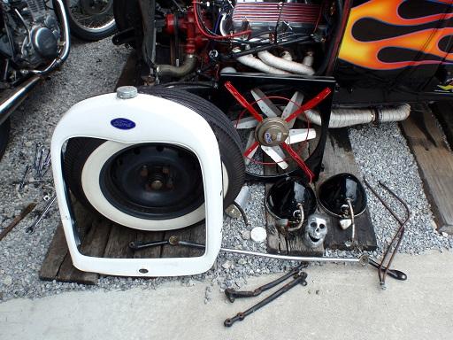 事故後修復 外した部品