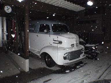おお、雪が><