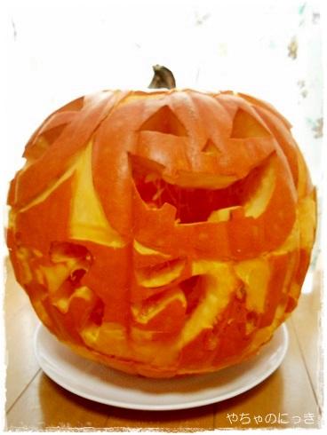 20131020かぼちゃランタン完成