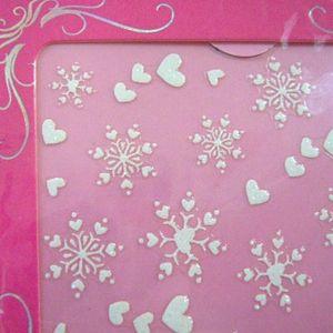 ネイルシール雪の結晶ハート2_R