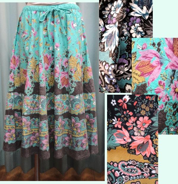 shanti2 カットアウトピクチャー スカート ¥4410