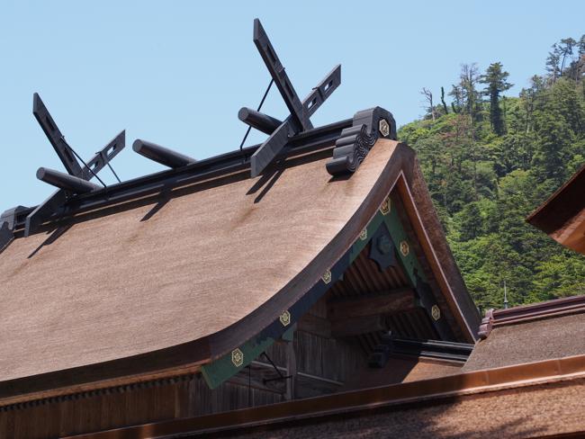 檜皮の屋根