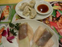 北京ダックと水餃子