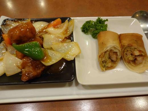 酢豚&春巻き