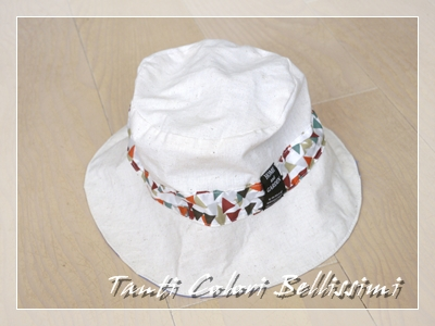マリメッコのリバーシブル帽子