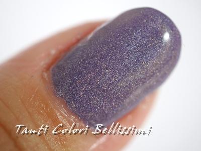 紫と千鳥格子で秋の始まりネイル